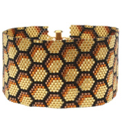 Peyote Bracelet - Honeycomb - Exclusive Beadaholique Jewellery Kit