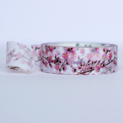 Cherry Blossom Washi Masking Craft Deorative Tape 7m 1.5cm wide