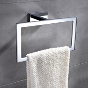 Contemporary Chrome Finish Brass Wall Mounted Towel Ring
