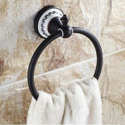 "Towel Ring Oil Rubbed Bronze Wall Mounted 182x 75x 66mm (7.16 x 2.95x 2.59"") Brass / Ceramic Traditional"