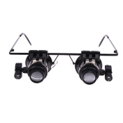 Amazingdeal365 Glasses Type Double Eye Magnifying Glass 20X Magnifier Repair Microscope with LED Light