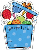 (24) Surprise Party Balloons Confetti Fill In Invitations