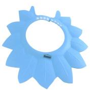 Dianoo Baby Shower Cap, Waterproof Children Kids Bathing Cap Shampoo Shower Protect Hat Adjustable - Leaf - Blue, 1PCS