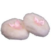 HugeStore 2 Pcs Cute Bowknot Plush Baby Powder Puff 8.9cm
