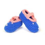 AStorePlus Baby Newborn Prewalker Shoes Handmade Knitted Crochet Socks Slippers-Blue Strawberry