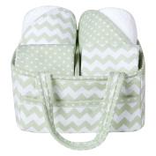 Trend Lab 5 Piece Baby Bath Gift Set, Sea Foam/Green
