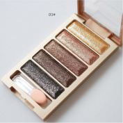 Hometom 5 Colour Glitter Eyeshadow Makeup Eye Shadow Palette New