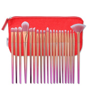 Hometom 20Pcs Cosmetic Concealer Brushes Make Up Foundation Eyebrow Eyeliner Blush