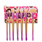 Hometom 7pcs Makeup Brushes set Fondation Eyeshadow Cosmetic Tool with Leather
