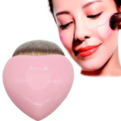 Hometom Pink Heart Shaped Powder Brush Blush Brush Makeup Cosmetic Brush
