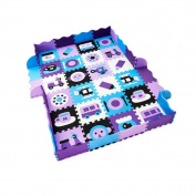 9 Pieces of Waterproof Children Foam Mats Baby Foam Puzzle Play Mat,Pattern 1