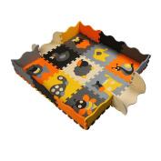 9 Pieces of Waterproof Children Foam Mats Baby Foam Puzzle Play Mat,Animal