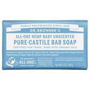 Dr. Bronner's Pure-Castile Soap, Unscented 150ml (140 g) pack of 3