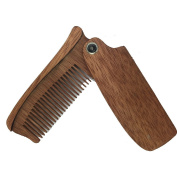 Wooden Made Men and Women Folding Comb Pocket Size Hair and Beard Wood Folding Comb