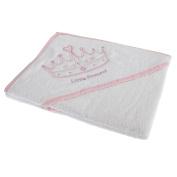 Snuggle Baby Baby Girls Crown Design Hooded Towel (70cm x 70cm )