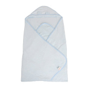 Labebe Bamboo Fibre Baby Bath Towel with Hood - Blue