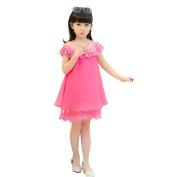 Vanvler Kids Baby Girl Princess Dress Children's Evening Clothing Lace Party Pearl Dress