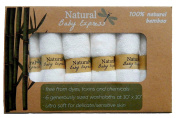 Best 100% Natural Bamboo Washcloths (6-pack) by Natural Baby Express - Premium Ultra Soft 25cm x 25cm wipes for Baby's Sensitive Skin - Reusable - Absorbent - Dye Free - Hypoallergenic