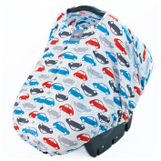 Infant Baby Boy Girl Car Seat Cover Canopy Carrier Peek-A-Boo Pod