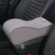 Memory Foam Car Armrest Pillow Breathable Soft Car Centre Consoles Cushion All Seasons Universal Auto Seat Arm Rest Pad Mat - Grey