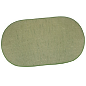 MonkeyJack Green Soft Baby Carriage Vine Straw Mat Washable Pad Oval Mosquito Curtain Netting Set 10658cm