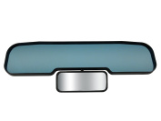 New -Blue Guardian Child Car Mirror | Anti-Glare Blue Tint Flat Rear View Mirror PLUS a Panoramic Child/Toddler Mirror | Clip-On Universal Fit | Mimics Auto-Dimming Anti-Dazzle