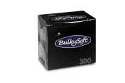 Bulky Soft BS 32670 Serviettes 1/4 Fold, 2-Ply, 24 cm x 24 cm, Black