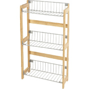 Bamboo Wood Kitchen Rack with 3 Shelves for Storage