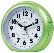 ATRIUM alarm clock analogue green silent, with light and snooze function A240-3