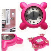 HENSE Waterproof Mini Shower Or Bathroom Clock With Strong Suction Glass Cup HM42