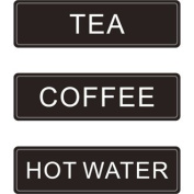 Stalwart K701 Airpot Decaf Label, Self Adhesive Sticker, Use On Airpots