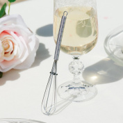 Stainless Steel Miniature Champagne Whisk - Perfect For Whisking Lumps Out of Gravy, Whisking in Jugs, Small Mixing Bowls, Fizzing Champagne, Etc. A Great Gift For Keen Chefs and Bakers! - L13 X W2cm