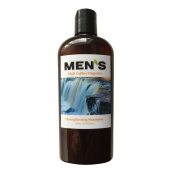 New on Amazon - Mens Organic Strengthening Shampoo Gel fortified with Hydrolyzed Wheat Protein, Pro-Vitamin B5, & Vitamin E