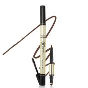 TC Joy 3 in 1 Eyebrow Pencil with Eyebrow Powder and Eyebrow Dye, Professional 3D Eyebrow Cosmetic Makeup Tool, Waterproof Natural and Long-lasting Dark Brown-2#