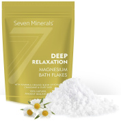 New DEEP RELAXATION Magnesium Chloride Flakes – Absorbs . Epsom Salt - Unique Full Bath Soak Formula For Stress, Anxiety And Relaxing - With USDA Organic Roman Chamomile & Clary Sage Oils
