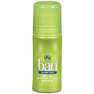 Ban Roll-On Antiperspirant & Deodorant Powder Fresh - 3PC