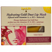 My Spa Life, Hydrating Gold Dust Lip Mask, Vitamins C,e,b3 + Mins,6 Treatments