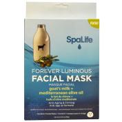 My Spa Life, Forever Luminous Facial Mask, Goat's Milk + Mediterranean Olive Oil, 3 Facial Masks