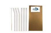 JGRD Glass Drinking Straws, 3 Bent, 3 Straight, 1 Cleaning Brush