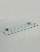 Extremely Firm Shower Shelf All Copper Gilded Glass Shelf Bathroom Makeup Stand Wall-mounted Toilet Shelves Bathroom Mirror Front Frame ensuring quality
