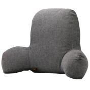 QHYT Lumbar Pillow Lumbar Support Cushion Cotton Filling Dark Grey