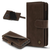 iPhone 7 Case,Wallet Case for Apple iPhone 7,ikasus Flip PU Leather Fold Wallet Pouch Case Leather Wallet Flip Case with Stand 9 of Credit Card ID Holders Wallet Case Cover for Apple iPhone 7 - Brown