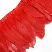 WAKEACE High Quantity 2yards/lot Goose Feather Fringe Trim for Dress Skirt Party Clothing Decoration DIY Craft Making