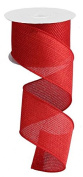Red Cross Royal Burlap Wired Edge Ribbon - 6.4cm x 10 yards