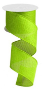 Lime Green Cross Royal Burlap Wired Edge Ribbon - 6.4cm x 10 yards