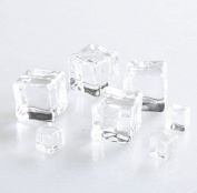 20pcs 1cm/0.4inch Wedding Party Display Artificial Acrylic Ice Cubes Crystal Clear Decorate
