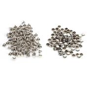 100Pcs Bulk Double Cap Rivets 8x8mm For Leather, DIY Craft, Bag, Shoes Repairs, Pet Collar
