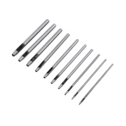 10 Pcs/Set Leather Craft Punch Set,0.5mm-5mm Dia(10 Size) Round Hole Puncher for Leather Belt Gasket Plastic Rubber Punching Tools