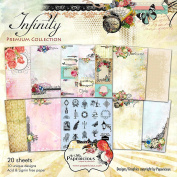"""CRAFTSNEED Papericious """"Infinity"""" 12x12 Craft Paper/Scrapbook Paper/ Decorative Paper/Printed Paper/Design Paper For Scrapbooking"""