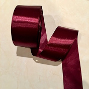 5.1cm Single Face Satin Ribbon Price Per Roll/25 Yards in Burgundy Available in 10 Colours